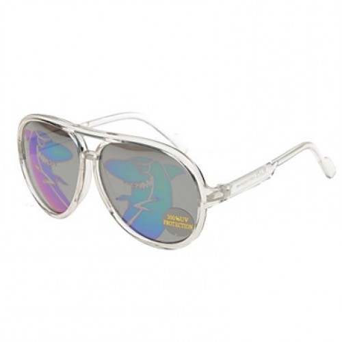 Sunglasses Kids & #039;S Classic/Retro/Vintage/Fashion/Geek & Chic/Aviator Flyer Transparent Sunglasses Full-Rim