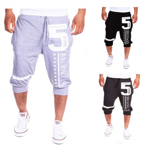 Low price hot sell men's shorts letters printed dress pants design