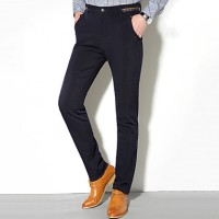 Men & #039;S Slim Suits , Trousers Casual/Work/Formal Pure Cotton/Spandex/Polyester