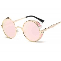 8094 discount sunglasses retro sunglasses round carved reflective sunglasses 881 Sunglasses
