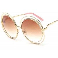 Sunglasses 8081 new style metal bead wire double round frame sunglasses Large European market and the US market sunglasses