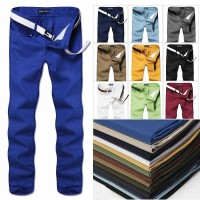 Lower selling prices of new models large size men's casual pants solid color ten colors