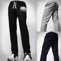 Lower selling prices of new models letter embroidery Men's large size sports pants training pants