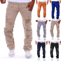 Lower selling prices of new models men's casual trousers tooling casual Double waist hole spring and summer low prices