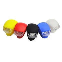 Bike Light 3-Mode 2-Led Bicycle Front Light (2Xcr2032, Assortted Colors)