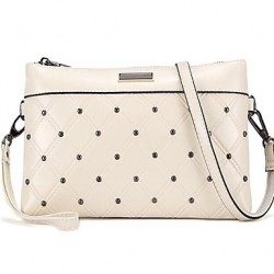 Fashion Women & #039;S Genuine Leather Hand Bag Rivet Shoulder Bag Crossbody Bag