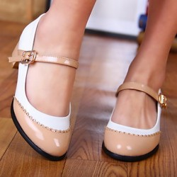Women & #039;S Shoes Round Toe Chunky Heel Flats With Buckle Shoes More Colors Available