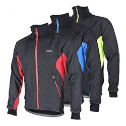 Arsuxeo Men & #039;S Cycling Fleece Jacket Warm Winter Thermal Bicycle Windproof