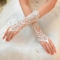 Elbow Length Glove- Tulle Bridal Gloves