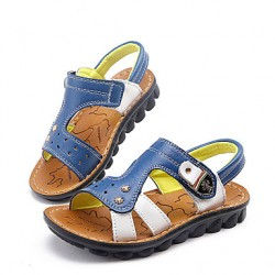 Boys & #039; Shoes Casual Leather Sandals Blue/Brown/Yellow
