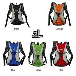 Cycling Mountain Biking Backpack Bag 2L Waterproof Breathable Polyester Outdoor Riding Bikebag