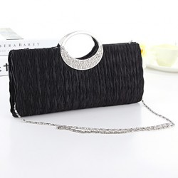 Handbag Silk/Crystal/ Rhinestone/Metal Evening Handbags/Bridal Purse With Crystal/ Rhinestone/Metal