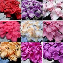 40 Color Available Rose Petals Table Decoration- (100 Petals Per Pack)
