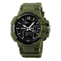 50 M Waterproof, Movement Of Japan, Japan Battery, Second Hand Timing, Double Display Sports Watch