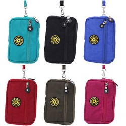 Outdoor Activities 5.7 Inch Three Zipper Multifunction Fashion Leisure Package(Assorted Colors)