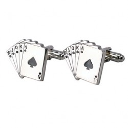 Jewelry Brass Material, Poker Modelling Men Cufflinks
