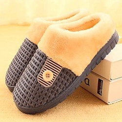 Men & #039;S Libo New Fashion Popular Sale Comfort Casual Cotton Slippers Dark Blue/Brown For Lovers