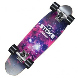 26 & Quot; X 7.2 & Quot; Cruiser Skateboard With Abec-9 Bearings 60 X 45Mm Wheels Space Graphic