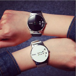 2017 Fashion Simple Unisex Couple & #039;S Watches Student Men Or Women Watch (Assorted Color)