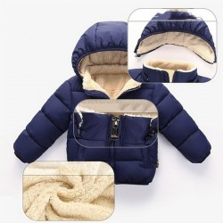 Babys lambs wool Thick Padded Jacket Warm Hooded Outerwear