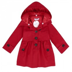 Babys Long Cotton Wind Coat New Outerwear