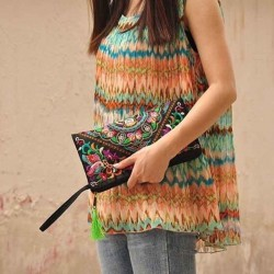 Women's Ethnic Handmade Embroidered Vintage Clutch Bag