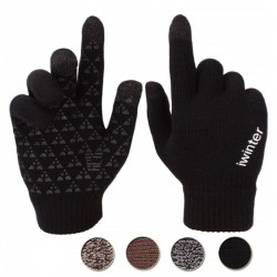 Men's Winter Outdoor Windproof Cycling Touch Screen Gloves