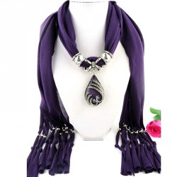 Women's Scarf Alloy Resin Pendent Scarves