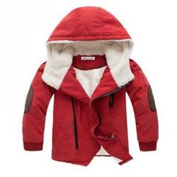 Babys Fashion hooded with fur Outerwear