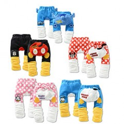 2017 New Children & #39;S Clothing New Baby Boys And Girls Thick Fleece Embroidery Pp Pants Mickey Minnie Big Boy Pants 1St