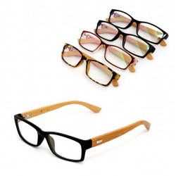 New 2017 Classic Plain Glasse Women/Men Fashion Clear Glasses Cool Eyewear Glasses Bamboo Frame Gl-5279