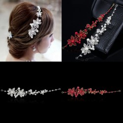 2017 New Women Headband/Crystal Rhinestone Faux Pearl Hairband Women Bridal Hair Jewelry Fashion Wedding Hair Accessories
