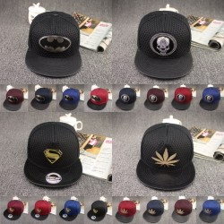 2017 New Fashion Casual Batman Hip Hop Snapback Caps Hat For Men Women Summer Style Letter Skull Superman Baseball Cap Hat Bone