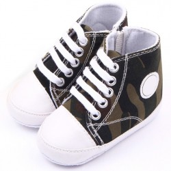 Baby Shoes Boys Canvas Camouflage Zipper Ankle Boots Infant Baby First Walker Toddler Shoes