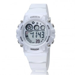 2017 Ohsen Women Sports Watch Plastic Strap Led Digital Wristwatches Jelly Color Water Proof Clocks Watches For Ladies As10