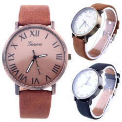 New Fashion Women Vintage Sport Casual Stainless Steel Leather Luxury Quartz Analog Wrist Watch Watches