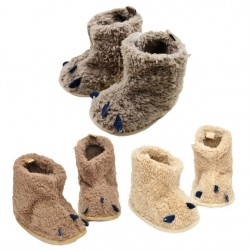 Feitong Baby Boots Soft Crib Shoes Toddler Paws Boots Infants Crochet Knit Fleece Boots Toddler Girl Boy Wool Snow Crib