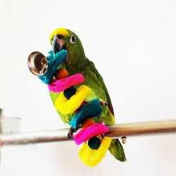 2017 Popular Sale Bird Toys Parrot Cage Toys Cages Cockatoo Conure Loofah Sponge Bite-Resistant Handmade Parrot Toys
