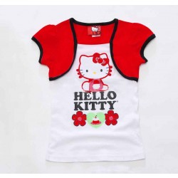 Low prices on new children's clothing promotional hot selling flower pattern Cat pattern short sleeve shawl Promotions