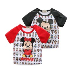 Kids full print mouse head pattern T-shirt discount fast shipping low price promotion
