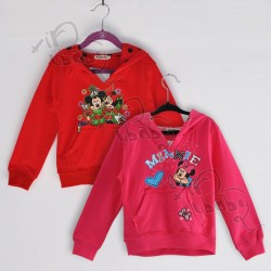 Promotional low price children's clothing autumn paragraph Minnie pattern hoodie sweater girls coat girls