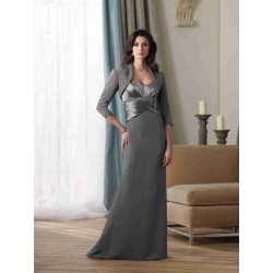 Dongkuan dinner young mother clothing dress fashion Slim middle-aged can be added on both sides of the shoulder cape dress dinner