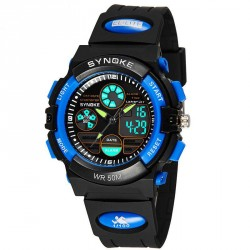 Popular brand promotions dual display electronic watch children boys waterproof luminous