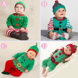 Boys and girls Christmas hat piece coveralls pine discount low price fast shipping promotion children