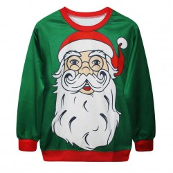 Hot sale fashion casual sweater Seiko digital printing 3D snowman Christmas pattern shirt lovers series