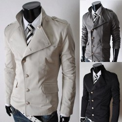 Low price Men's jacket collar men's body decoration Slim Jacket