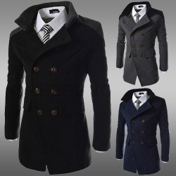 Low price member price discounts double-sided men's warm jacket low price long style double-breasted coat