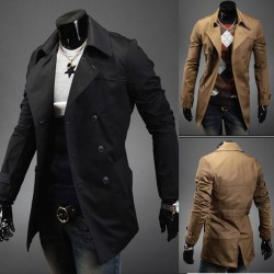 Low price Member price discount new fashion style double-breasted coat lapel Slim Men