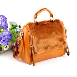 Balei Si new winter plush package handbag hot sales volume interesting personality plush bag promotional bags