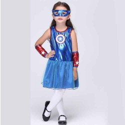 Kids new style Childrens costumes European and US markets Cosplay costume play Superman girls practice dance costume